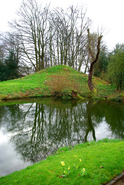 Mound at Little Moreton Hall