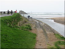 SS2006 : Old tramway rails at Bude Harbour by Gareth James