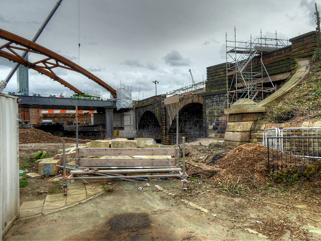 Ordsall Chord, Old and New Bridges