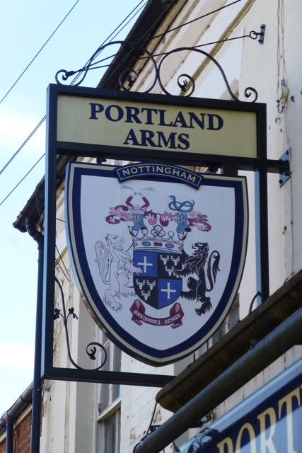 The sign of The Portland Arms