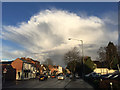 SP2865 : Northeast on Coten End, Warwick, with shower cloud moving away by Robin Stott