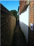 TQ2115 : Twitten, Nep Town, Henfield by Simon Carey