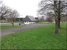 J3731 : Sports Pavilion at Islands' Park, Newcastle by Eric Jones