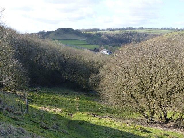 Footpath below Priestcliffe Lees quarry