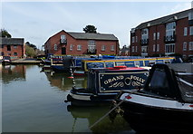 SP7287 : Narrowboats at the Market Harborough Canal Basin by Mat Fascione