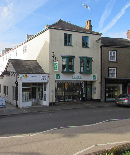 West Street charity shops in Axminster