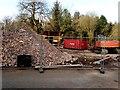 H4672 : Heap of rubble beside McCauley House by Kenneth  Allen