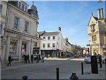SP0202 : Cirencester Market Place Crossroads and HSBC Bank by Roy Hughes