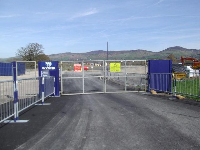 New school site entrance