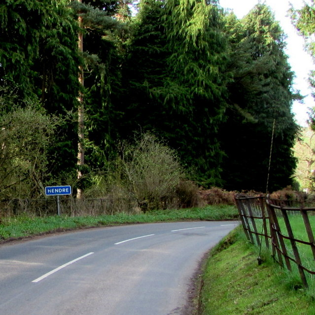 Eastern boundary of Hendre, Monmouthshire