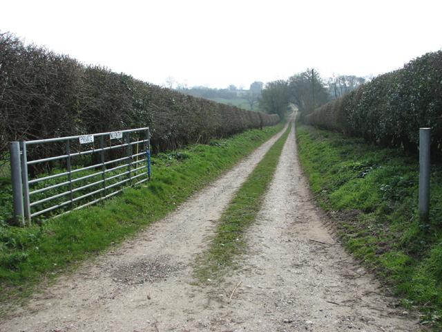 Private track to Algasthorpe Farm