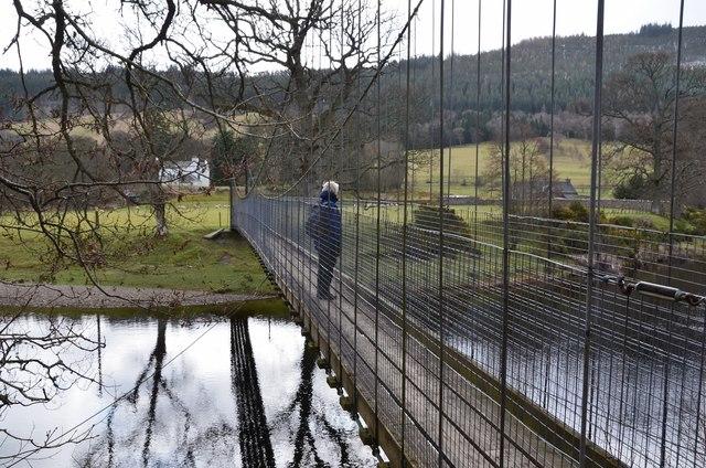 Suspension footbridge near Fortingall