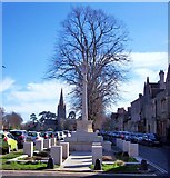 SP3509 : War Memorial, Witney, Oxon by Len Williams