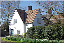 TL5646 : Green Lane cottage by M H Evans