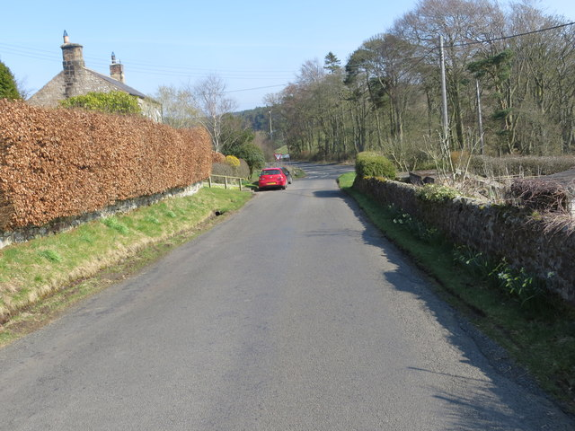 Minor road joining the A686 in Langley