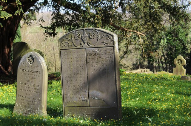 Gravestones in St Mary's churchyard