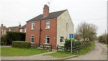 SK8875 : Semi-detached cottages on Sykes Lane, Saxilby by Chris Morgan