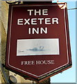 SX9688 : The Exeter Inn name sign, Topsham by Jaggery
