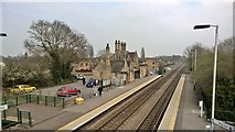 SK8975 : Saxilby railway station from the bridge by Chris Morgan