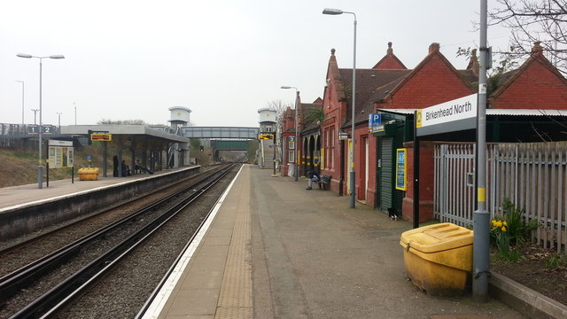 Birkenhead North railway station - platform view