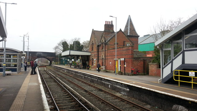 Hooton railway station main building