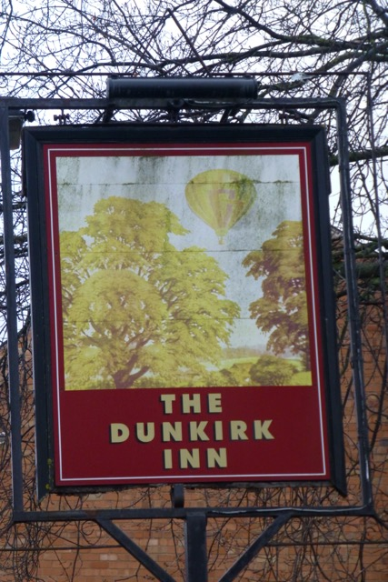 The sign of the Dunkirk Inn