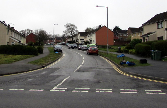 Northern end of Maendy Way, Upper Cwmbran
