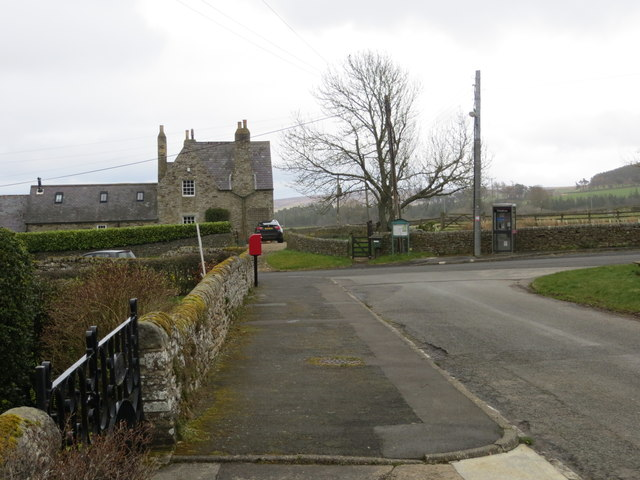 Road from St James' Church to main road in Hunstanworth