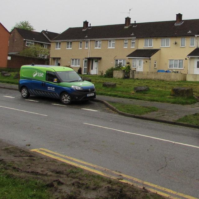 SSE van, Maendy Way, Cwmbran