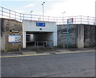 ST0894 : Station Road entrance to Abercynon railway station by Jaggery