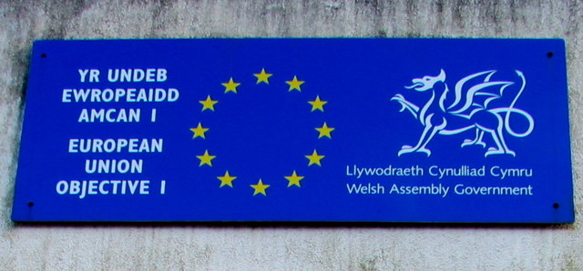 European Union and Welsh Assembly Government plaque, Abercynon
