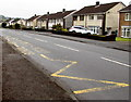 ST2796 : Zigzag markings on Thornhill Road, Upper Cwmbran by Jaggery