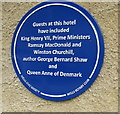 ST5445 : Famous people blue plaque on the Swan Hotel, Wells by Jaggery