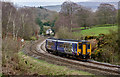 NY5156 : Passenger train approaching site of How Mill station - March 2017 by The Carlisle Kid