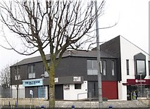 J5081 : Shops in Railway Court, Bangor by Eric Jones