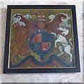SO6631 : Royal coat of arms, Kempley church by Philip Halling