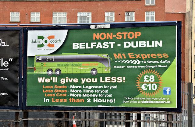 Dublin Coach poster, Belfast (April 2017)