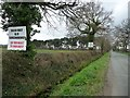 SJ7569 : Placards on the south side of Goostrey Lane by Christine Johnstone