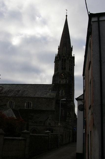 Church Lane and St Bartholomew's church, Lostwithiel
