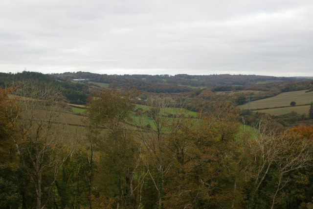 Looking up the Fowey valley from Restormel Castle
