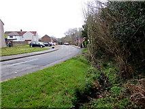 ST2896 : Brookside view of Mynydd Maen Road, West Pontnewydd, Cwmbran by Jaggery