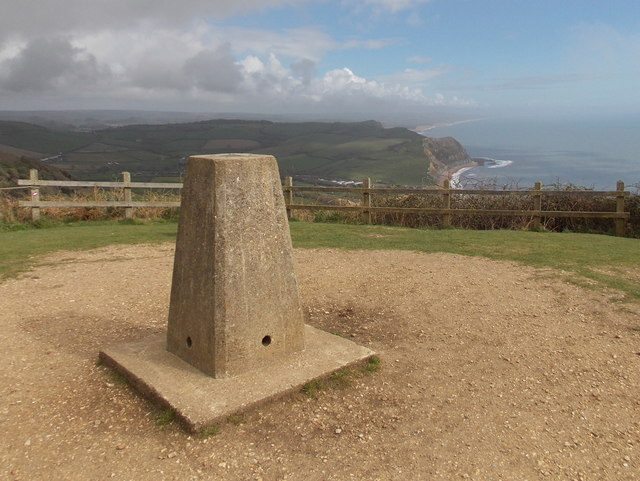 Golden Cap: the trig point