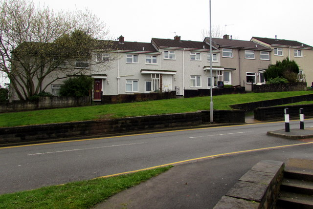 Houses above Maendy Way, Cwmbran