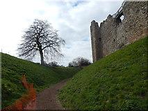 TM2863 : Path around Framlingham Castle by Hamish Griffin