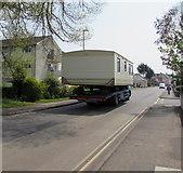 ST3049 : Wide load on Berrow Road, Burnham-on-Sea by Jaggery
