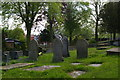 SJ6050 : Gravestones at Baddiley Chapel by Christopher Hilton