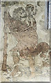 SE7984 : St Christopher wall painting,  Ss Peter & Paul church, Pickering by J.Hannan-Briggs