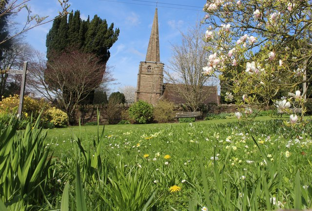 The garden at Linton village hall in early April