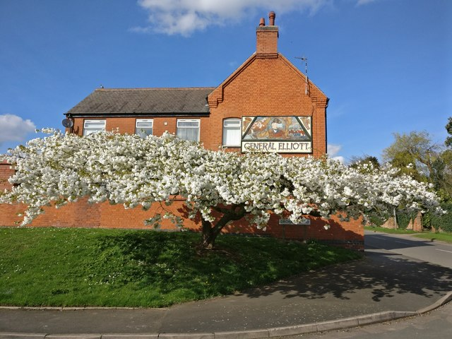 Blossom next to the General Elliott public house