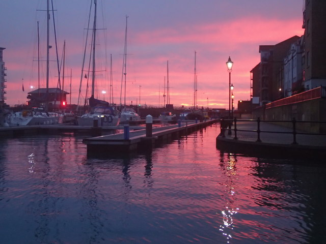 Sunrise at Sovereign Harbour